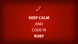 keep calm and code in ruby